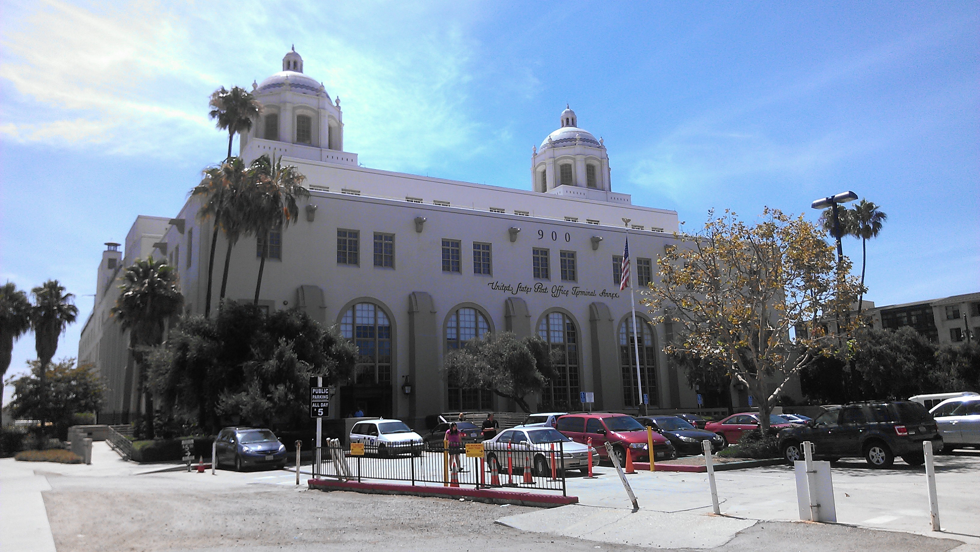 "The Terminal Annex post office in downtown LA, where Charles Bukowski worked as a mail carrier for a dozen years, and the setting for his debut novel, ""Post Office."""