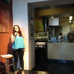 On stage at Rock Paper Coffee 1