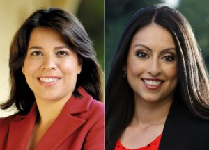 Cindy Montanez, left, and Nury Martinez are seeking the Council District 6 seat in Los Angeles.
