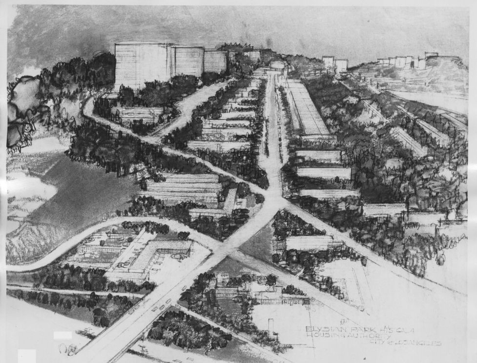 Elysian Park plan. Courtesy of Southern California Library for Social Studies and Research