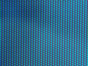 The television screen, way close up. Via Flickr via ftbester / Creative Commons