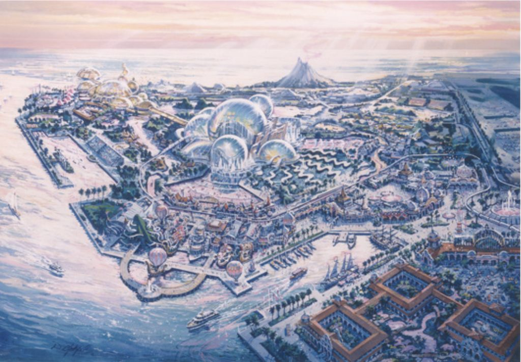 An artist's rendering of Port Disney