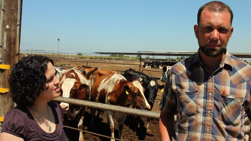Steve Gaspar and his wife worry the trains will ruin their Central Valley dairy.