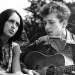 Joan Baez and Bob Dylan at the March