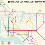 Greater Los Angeles Freeway System Map by Peter Dunn