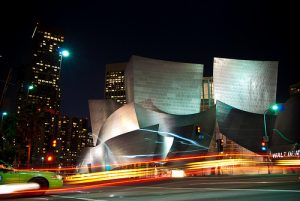 Walt Disney Concert Hall on Grand Ave. Photo via Flickr by dibaer/ Creative Commons