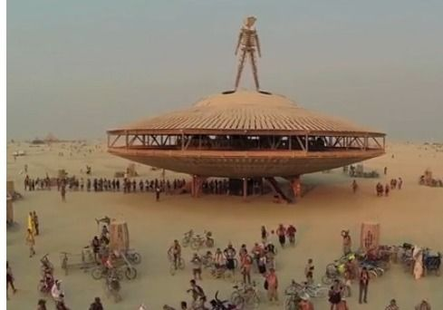 Screen grab from Drone's eye view of Burning Man 2013 on YouTube.