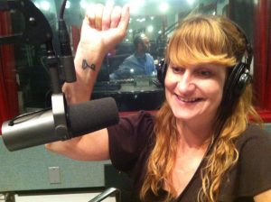Carolyn, and her literary tattoo