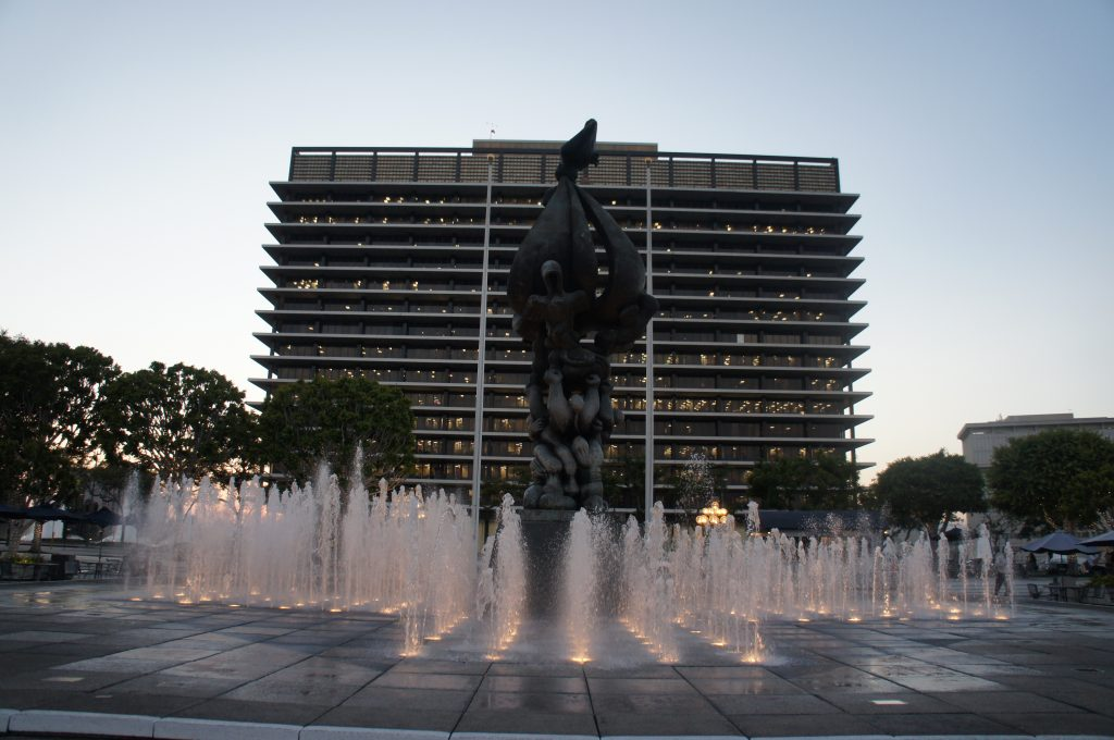 The DWP building downtown, which actually gets its water from almost all of LA's water sources. (Photo: Saul Gonzalez)