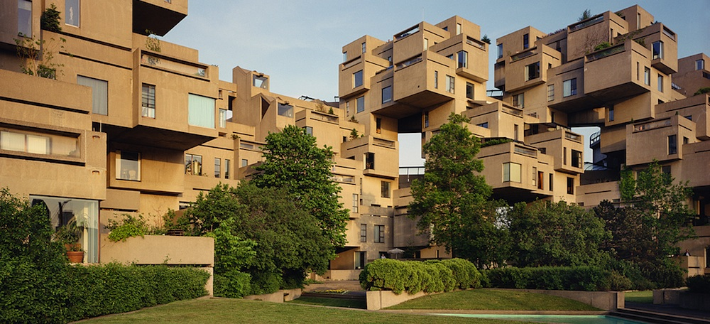 Habitat '67, Montreal, Quebec, 1992. Photograph by Timothy Hursley.