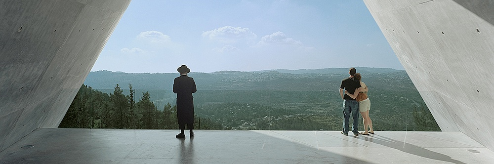 Yad Vashem Holocaust Museum. View overlooking Jerusalem, Israel, 2005. Photograph by Timothy Hursley.
