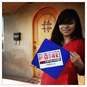 Lizbeth Mateo, a Dream 9 activist. (Photo: Eric Pearse Chavez)