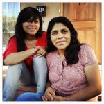 Lizbeth Mateo and her mother.