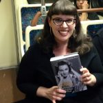 Writer, librarian, mom: Christina Rice holds her opus on the red line back home to North Hollywood