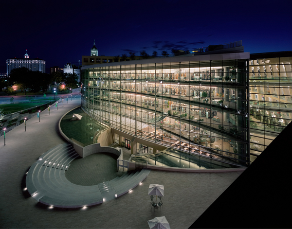 Salt Lake City Public Library, Salt Lake City, Utah, 2003. Photograph by Timothy Hursley.