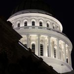 Sacramento Capitol Building at night. Photo via Flickr by Michael Dunn / Creative Commons