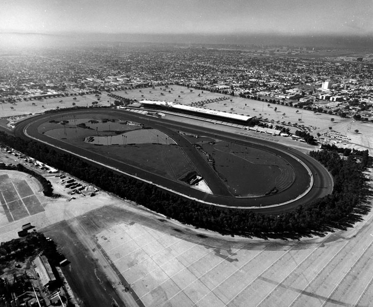 An aerial view of the park. (Photo courtesy: Los Angeles Public Libary)