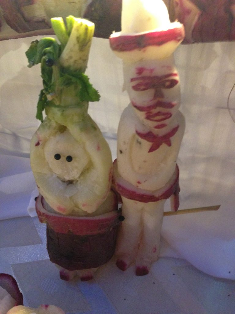 Radishes carved and ready for a party.