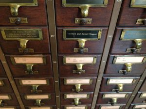 The card catalogue may be gone, but it's not forgotten