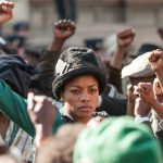 Naomie Harris, in the role of Winnie Mandela.