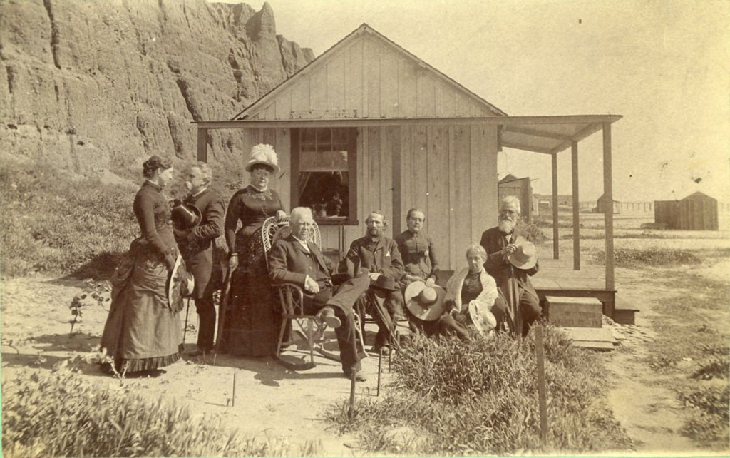 Visitors to Santa Monica Beach, circa 1880s. Albumen print by E.G. Morrison. Courtesy The Huntington Library, Art Collections, and Botanical Gardens.