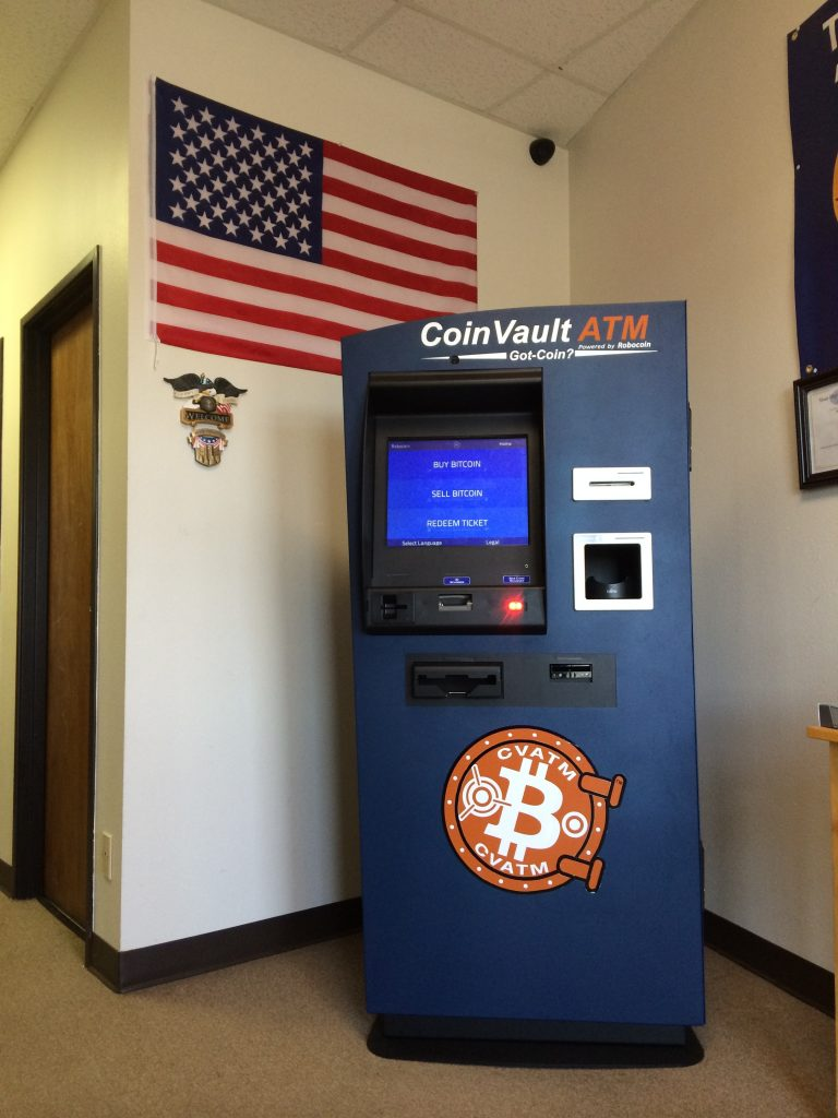 The bitcoin ATM machine at Central Texas Gunworks