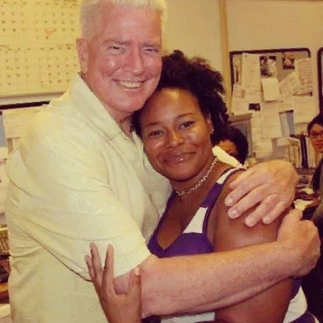 Huell Howser and Shawniece Swain