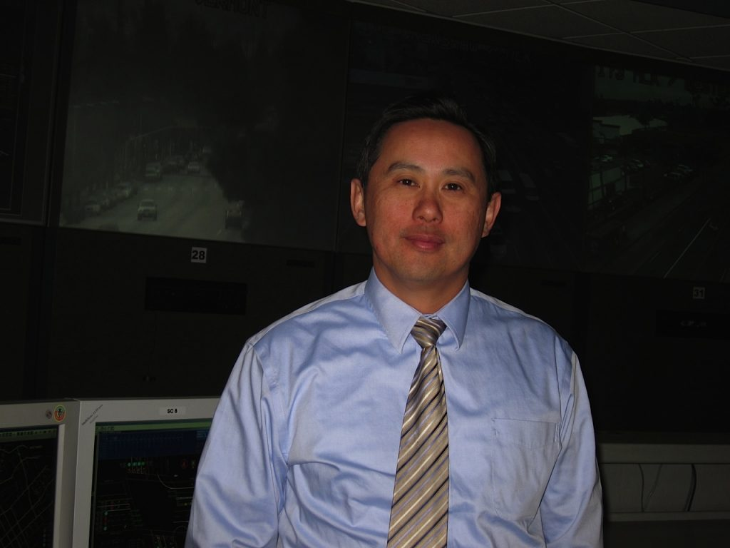 Edward Yu is the director of the city's Automated Traffic Surveillance and Control center.
