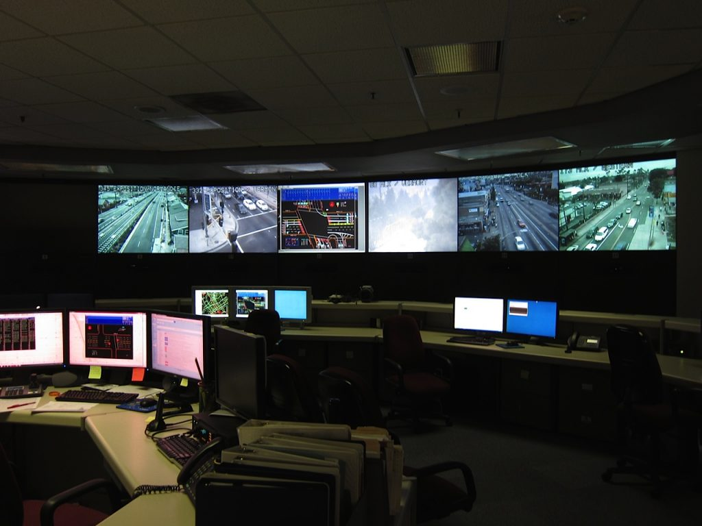 ATSAC staff can view live feeds from more than 400 cameras mounted on poles and buildings around the city.