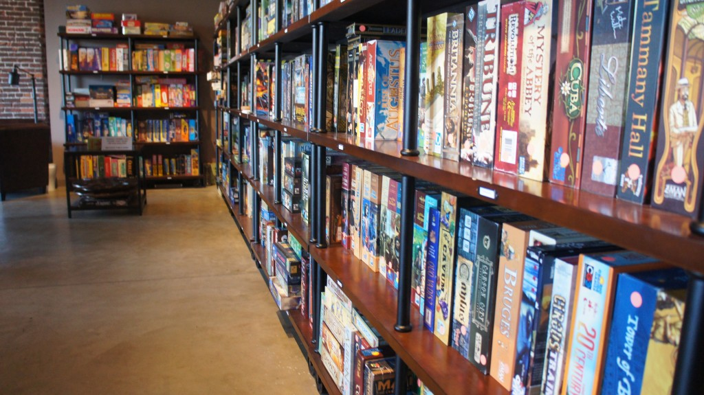 "Gamehaüs has more than 700 board and card games, all arranged by themes on the shelves. There are the classic games, like Risk, Clue and Monopoly, but also newer European-inspired games that often explore themes of trade, politics and diplomacy as part of game play. What makes a great game? ""We make a joke that sometimes you need a Sherpa to bring you through some of these games,"" says Robert Cron. Cron and Chiu say the best games are the ones  that balance complexity with east of play. Good games are also the ones you can play again and again without getting bored. (Photo: Saul Gonzalez)"