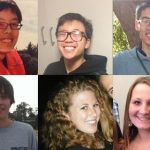 Isla Vista murder victims. Top row from left to right: Weihan Wang, George Chen, Cheng Yuan Hong. Bottom row from left to right: Christopher Martinez, Katie Cooper, Veronika Weiss