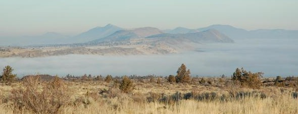 Fog over Tule Lake at Lava Beds National Monument. (Photo: NPS)