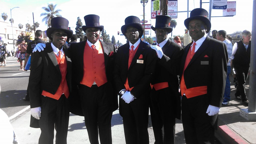 Sharply-dressed employees of Boyd Funeral Home of Los Angeles. Photo by Avishay Artsy