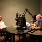 Neel Kashkari in the KCRW studio with Warren Olney.