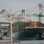A cargo ship docks in San Pedro. Photo: Saul Gonzalez