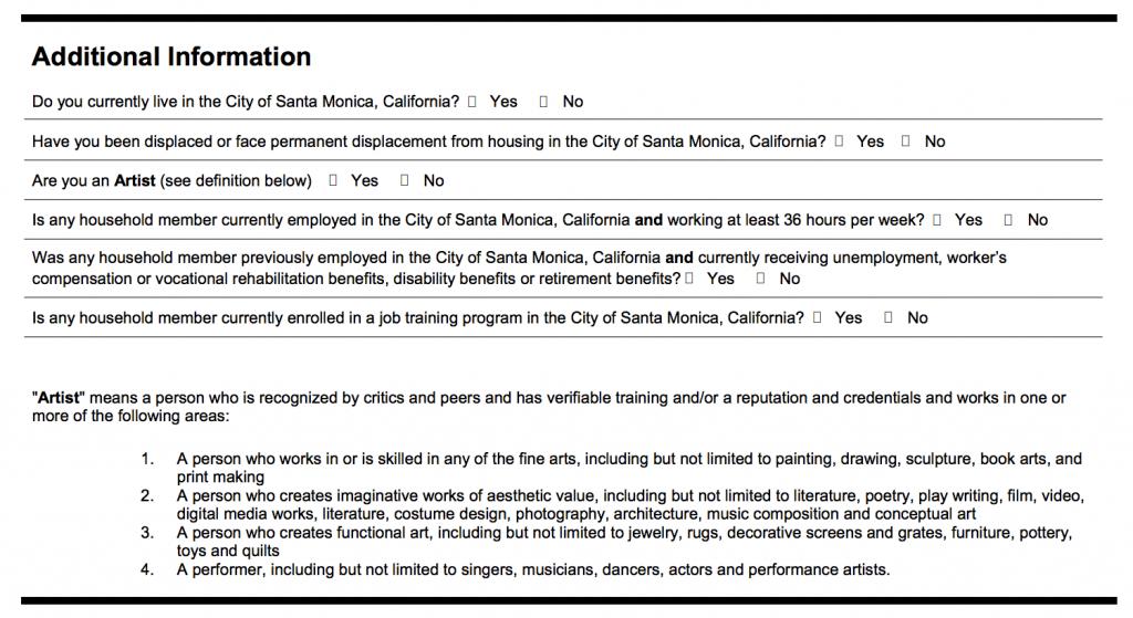 Screen shot of application