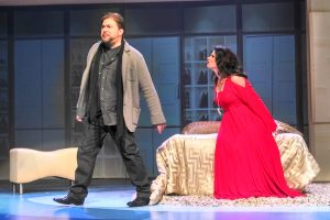 Craig Colclough and Greta Baldwin as Paul and Roxanne Conti. Photo: Jennifer Babcock