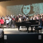 A tech rehearsal for The Passion of Anne Frank at Grand Arts HS in downtown Los Angeles