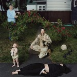 Captain Elizabeth A. Condon, New York Army National Guard, veteran of Operations Iraqi Freedom, with daughter, Kate, and mother Elizabeth; Troy, NY, June 2008, Fujiflex Super Glossy optical c-print, from In Country: Soldier's Stories from Iraq and Afghanistan, © Jennifer Karady