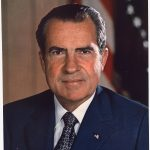 Richard Millhouse Nixon was the 37th president of the United States. He built his early political career as a conservative and staunch anti-communist, but as president he went on to normalize relations with communist China and establish the Environmental Protection Agency. He was known for his keen intellect and deep interest in foreign policy, but critics say he could also be ruthless and paranoid when it came to his political enemies. (Photo: National Archives)