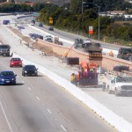 Construction on Highway 101 is taking place in Carpinteria.
