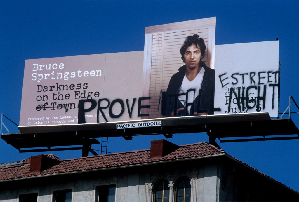 Bruce Springsteen Billboard on the Sunset Strip in Los Angeles circa
