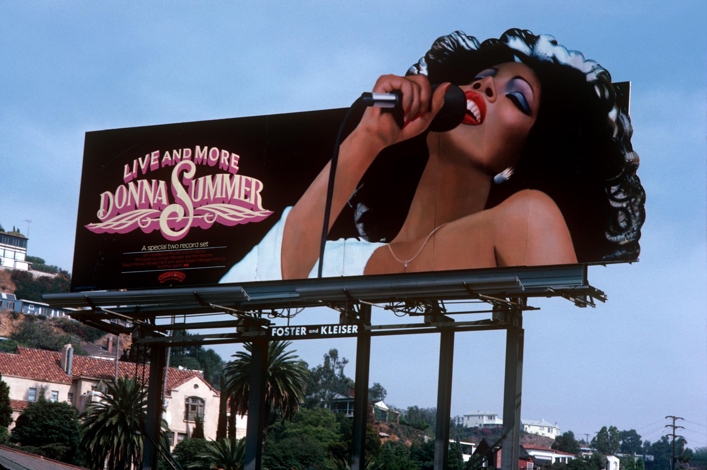 Billboard strip sunset