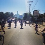 CicLAvia offers cyclists and pedestrians a chance to experience a car-free Los Angeles. Photo by Avishay Artsy