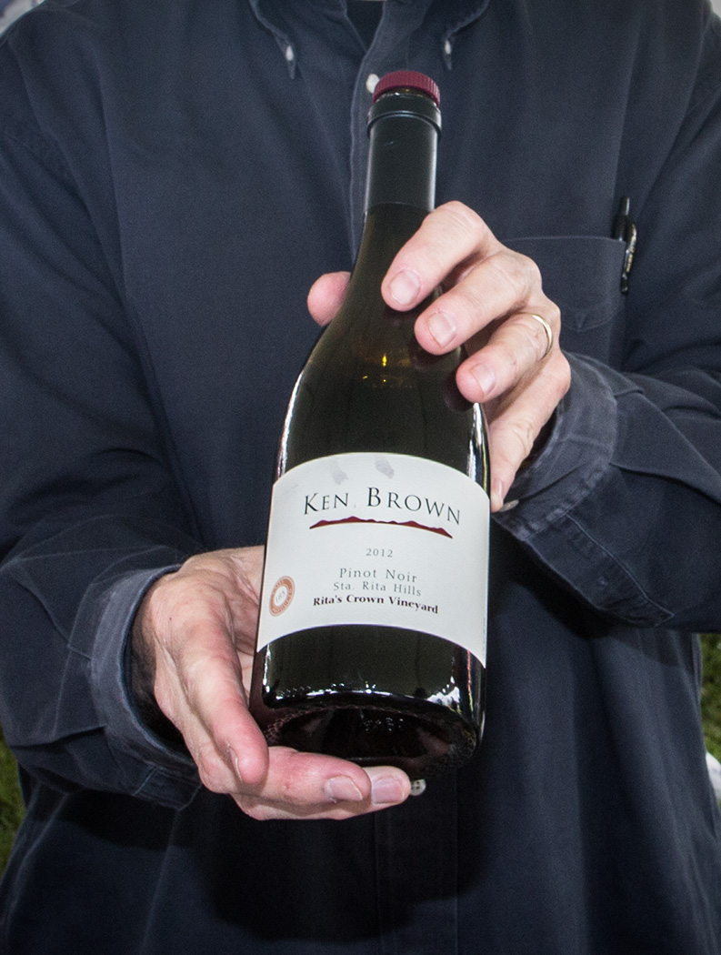 """A highlight of my tasting day was enjoying a sip of this 2012 Ken Brown Pinot Noir . The grapes came from """"Rita's Crown Vineyard"""" in the Santa Rita Hills (Photo: Ken Pfeiffer)"""