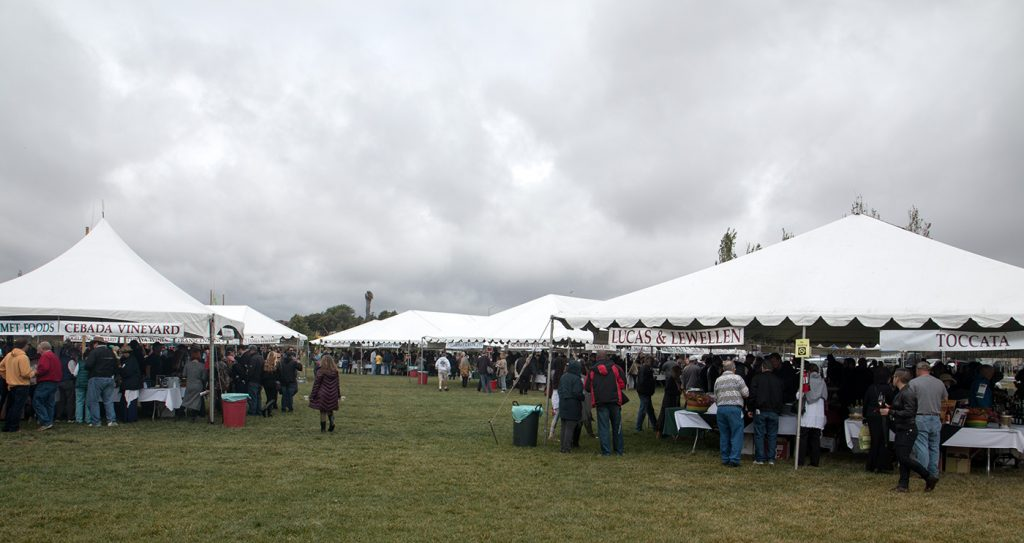 A cooler-than-average day at the Santa Barbara Vintners Festival in Buellton (Photo: Ken Pfeiffer)