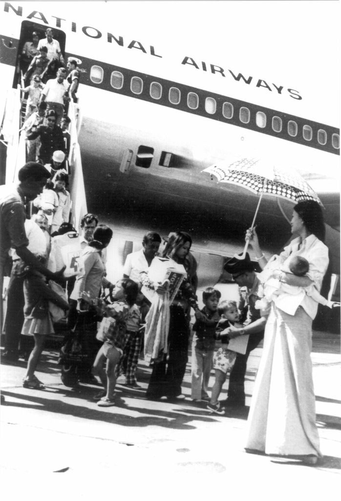 In the wake of the Vietnam War, the United States government hastily arranged an operation to bring thousands of South Vietnamese to the United States for resettlement. Many had fled their country so quickly, they came with nothing. (Courtesy: Camp Pendleton Archives)