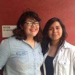 Students Kimberly Espinoza and Ashley Lopez are among the contributors to the book