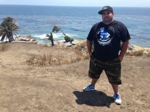 "Anthony Bora likes to explore Sunken City's winding trails and graffiti, and admire the view. ""This is one of the most beautiful views that I've seen in Southern California,"" he said."