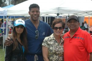"At the ""Relay for Life"" event in Baldwin Hills, Dr. Zuri Murrell (second from left), and Erin Stennis (second from right). Photo by Malek Mansour."
